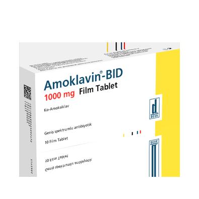 amoklavin 1000 mg film tablet antibiyotik