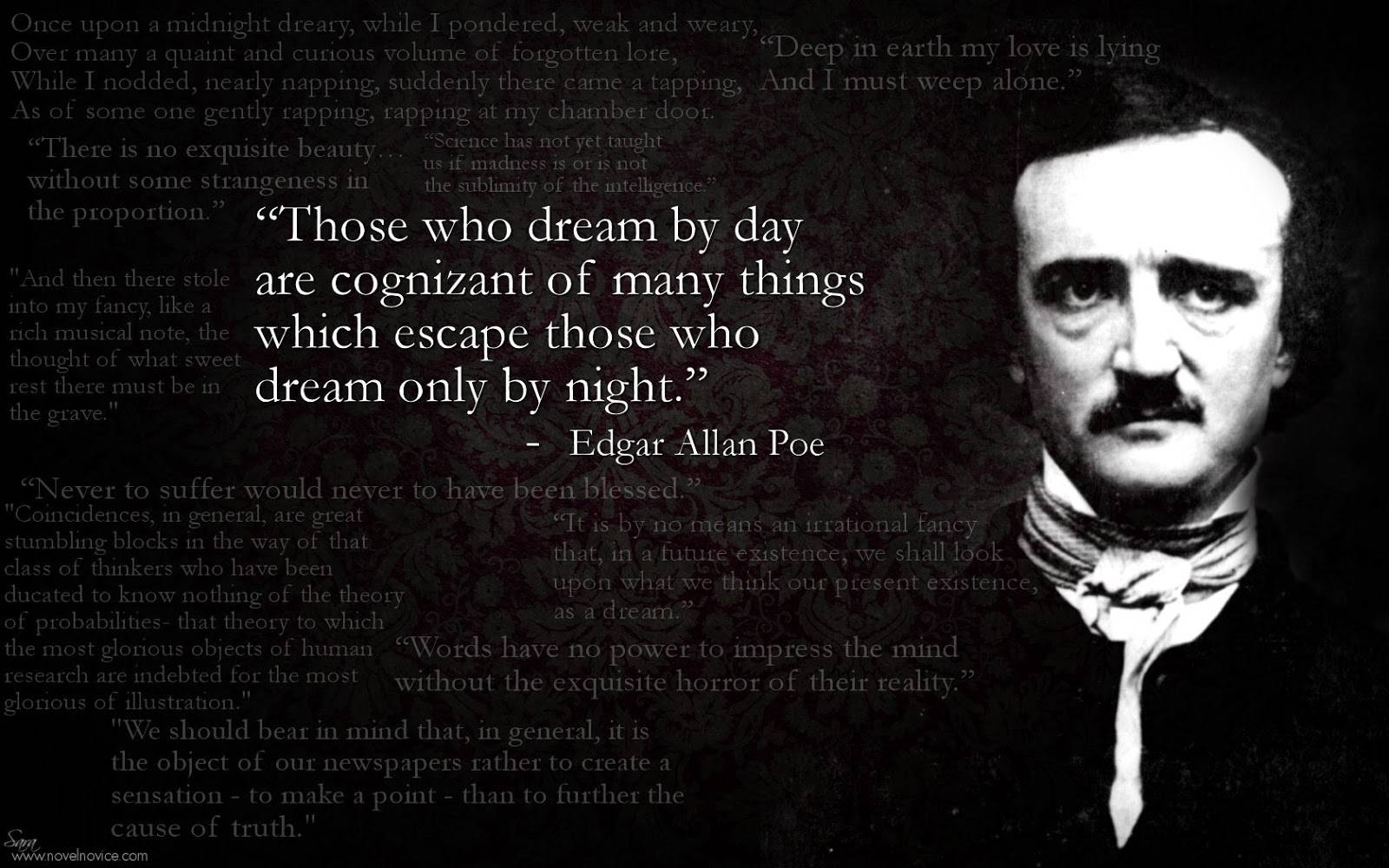 edgar allan poe s influences Watch video opened in 1922, the edgar allan poe museum in richmond, virginia features the world's finest collection of poe's possessions, first editions, and memorabilia these rarities include the.
