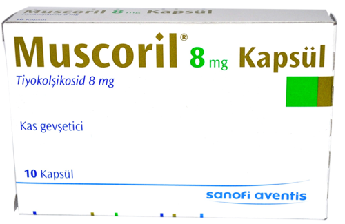 muscoril 8 mg 10 kapsül