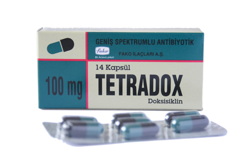 tedradox doksisiklin  geniş spektrumlu antibiyotik