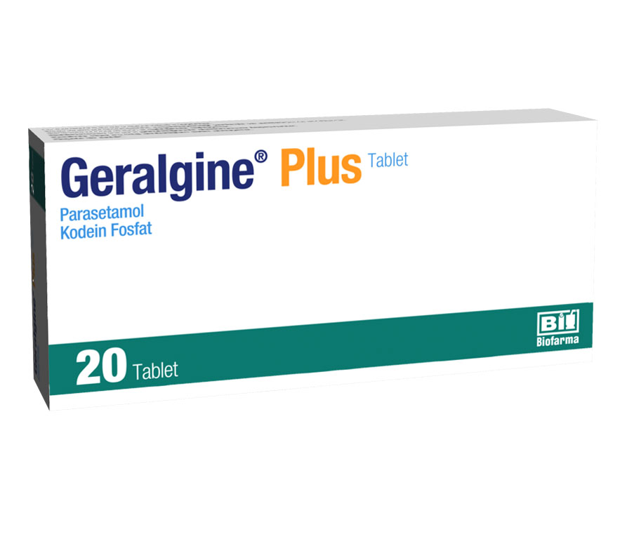 Medicines that contain Geralgine Plus should not be given