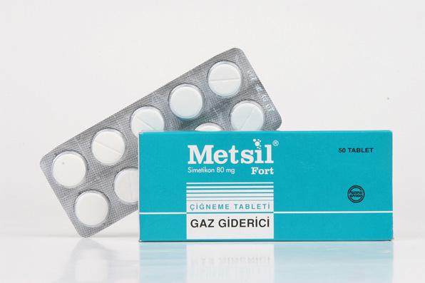 metsil çiğneme tableti gaz giderici